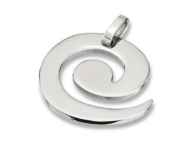 Stainless Steel Swirl Pendant with a chain