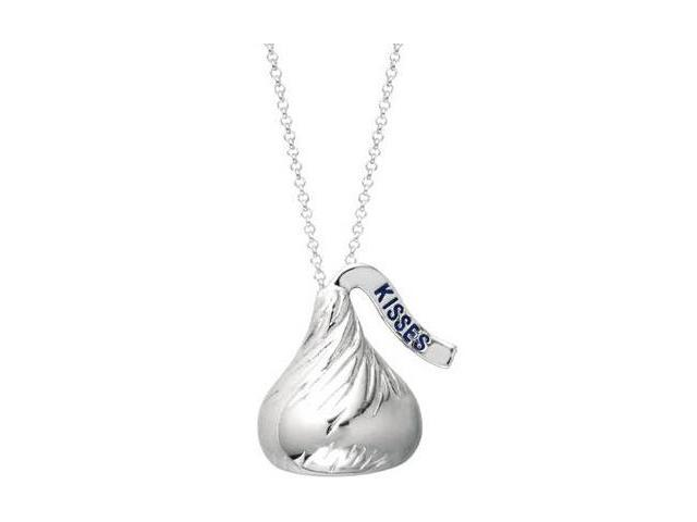 Genuine Sterling Silver Medium HERSHEY'S KISSES® Pendant with a chain