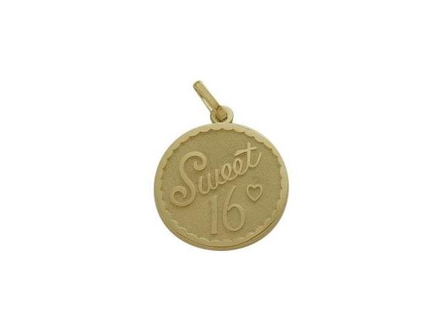 10K Yellow Gold Sweet #16 Age Expression Pendant with Chain