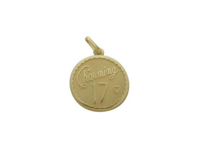 Yellow Gold Charming #17 Age Expression Pendant