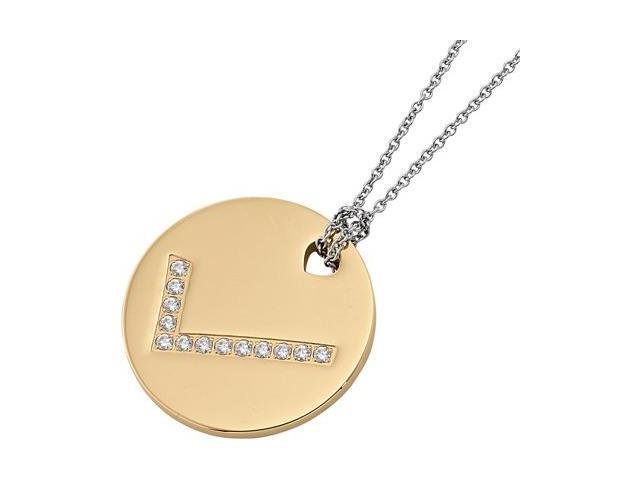 Gold Plated Stainless Steel Checkmark Pendant with a chain