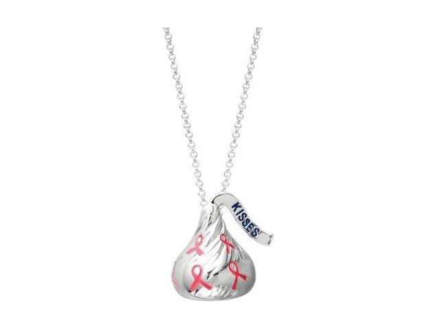 HERSHEY'S KISSES® Breast Cancer Awareness Pendant with a chain