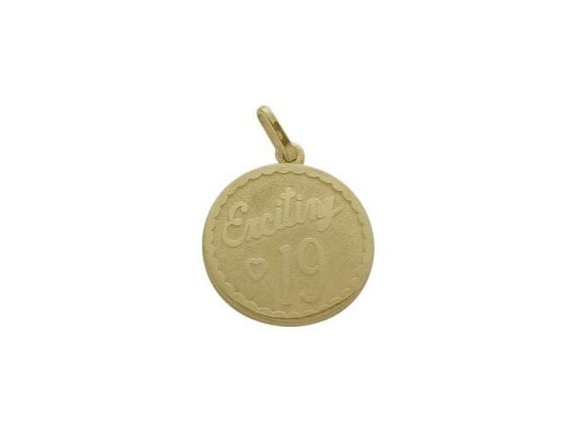 Yellow Gold Exciting #19 Age Expression Pendant with Chain