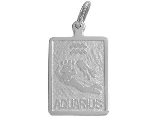 Sterling Silver Aquarius Zodiac Pendant with Chain