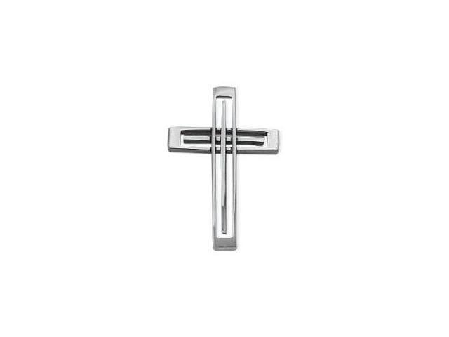 Men's Designer Steel Cross with Chain