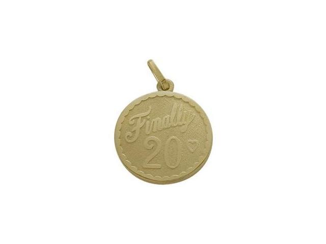 10K Yellow Gold Finally #20 Age Expression Pendant with Chain