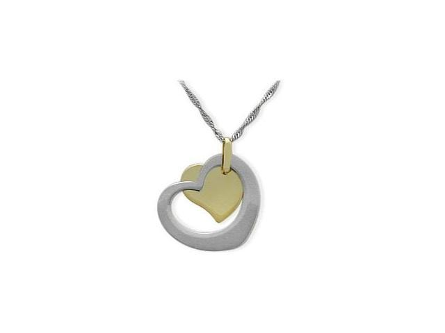 10 Karat Two-Tone Free Flowing Heart Pendant with Chain