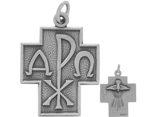 Genuine Sterling Silver Religious Cross with chain