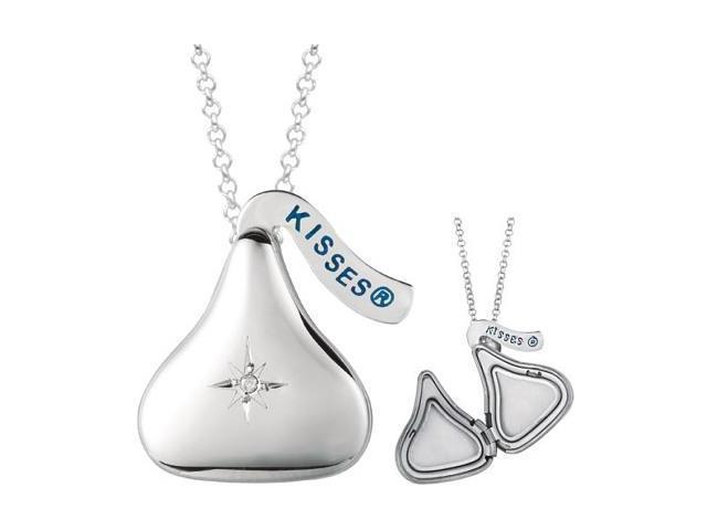 HERSHEY'S KISSES® Diamond Locket Pendant with a chain