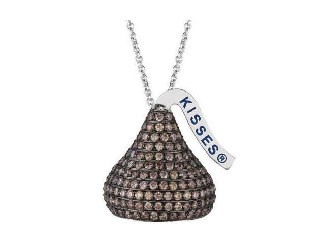 HERSHEY'S KISSES® Brown Cubic Zirconia Pendant with a chain