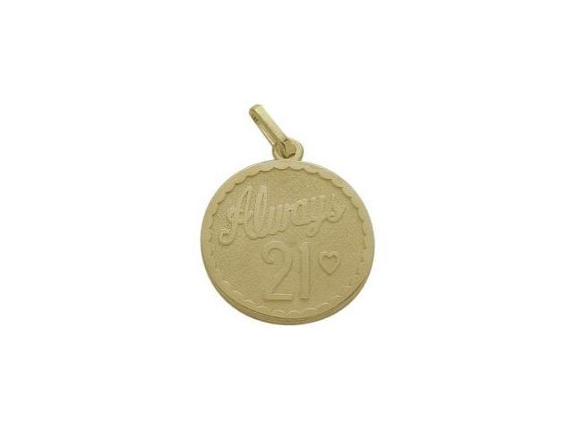 10K Yellow Gold Always #21 Age Expression Pendant with Chain