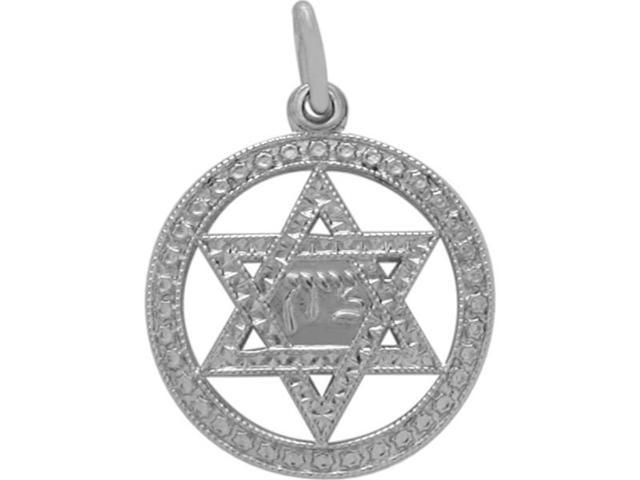 Genuine Sterling Silver Star of David Pendant