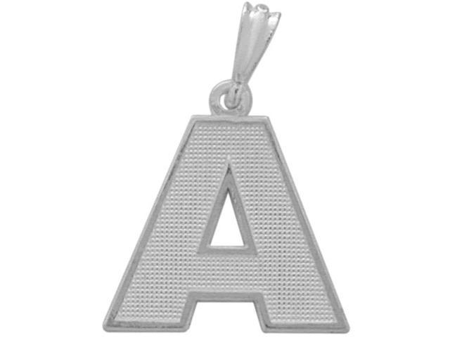 Sterling Silver Initial A Pendant with Chain