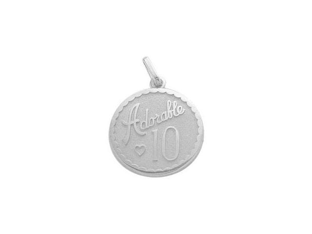 Sterling Silver Adorable #10 Age Expression Pendant with Chain
