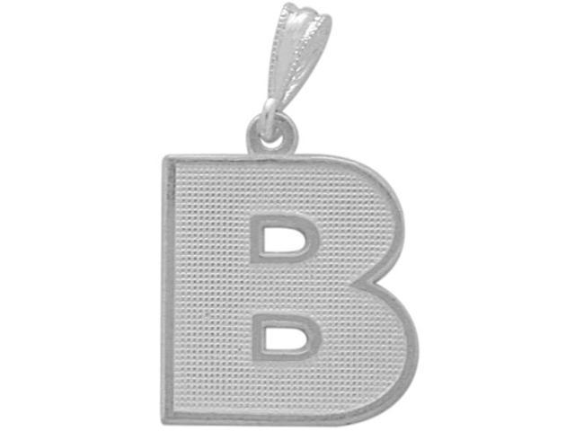 Sterling Silver Initial B Pendant with Chain