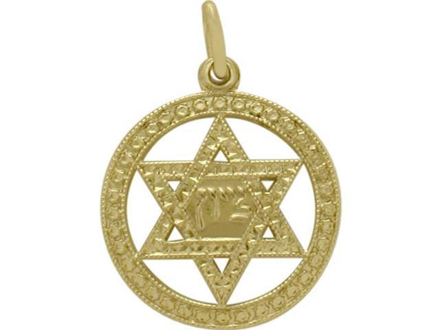 14 Karat Yellow Gold Star of David Pendant with a Chain
