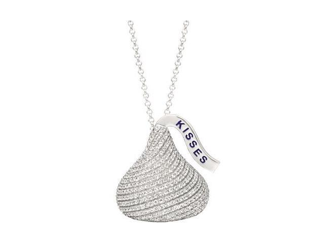 HERSHEY'S KISSES® Medium Cubic Zirconia Pendant with a chain