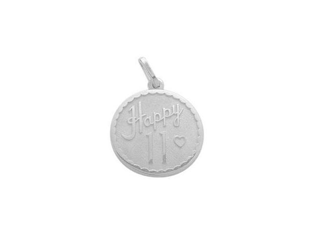 Sterling Silver Happy #11 Age Expression Pendant with Chain
