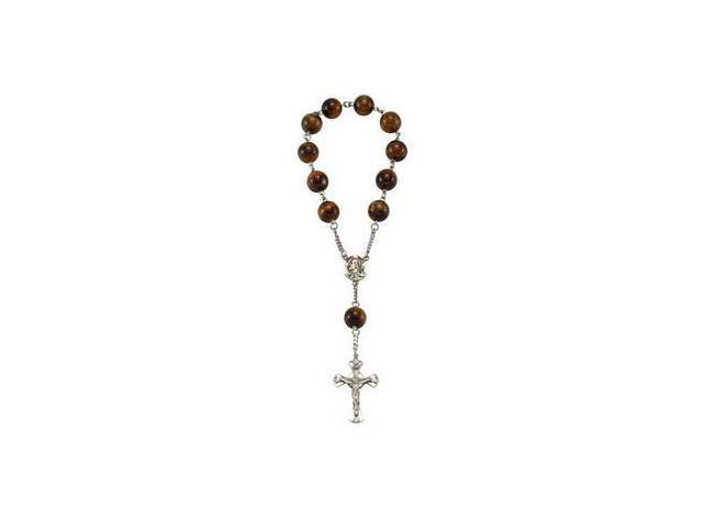 Madonna Meditation Rosary with Tiger Eye Beads