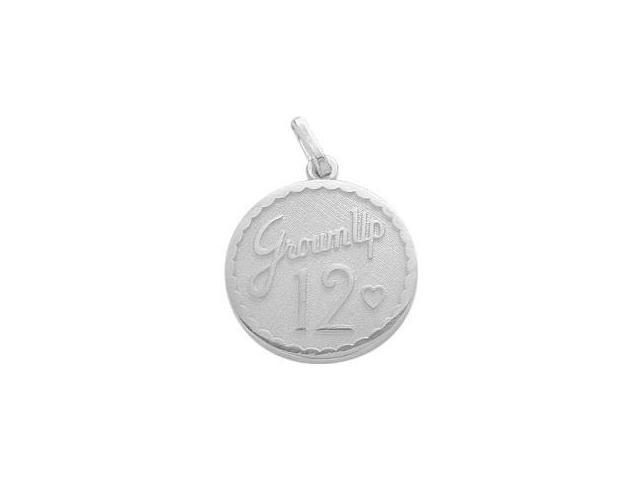 Sterling Silver Grown Up #12 Age Expression Pendant with Chain