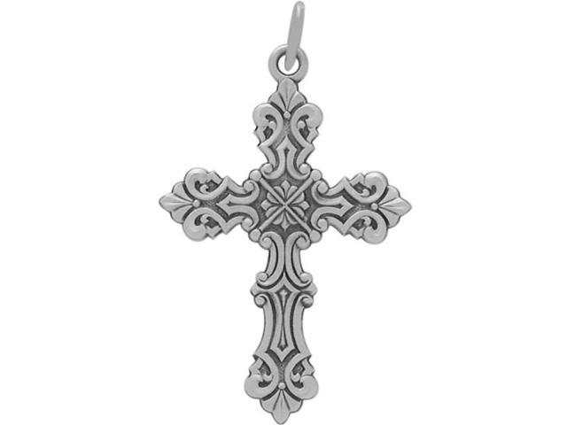 Genuine Sterling Silver Religious Large Cross with chain