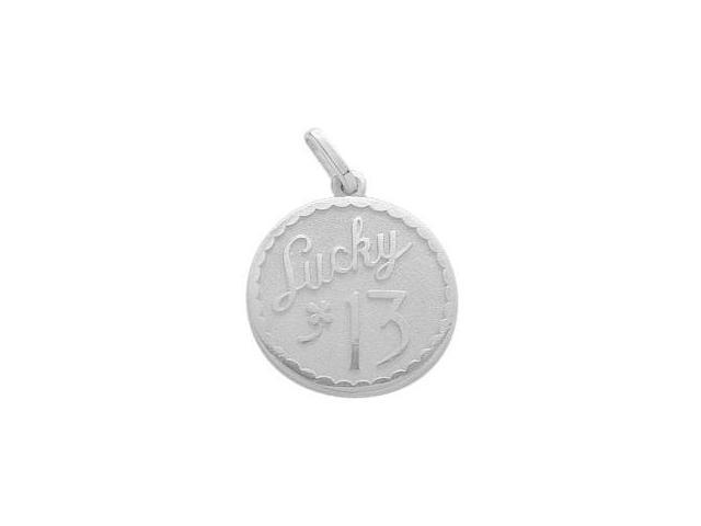 Sterling Silver Lucky #13 Age Expression Pendant with Chain
