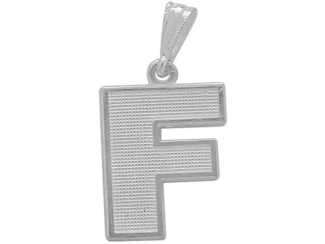 Sterling Silver Initial F Pendant with Chain