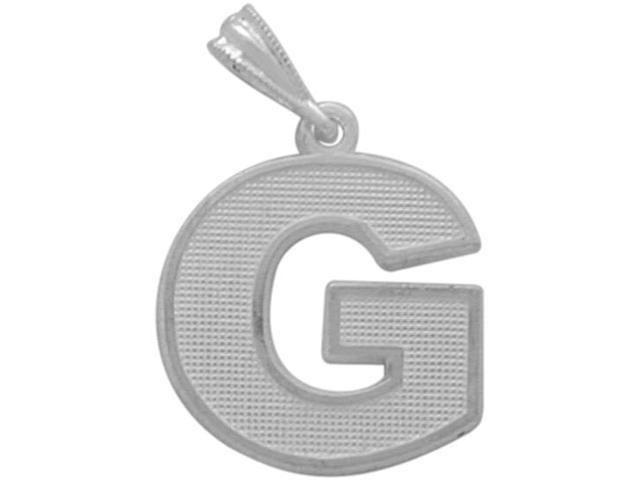 Sterling Silver Initial G Pendant with Chain