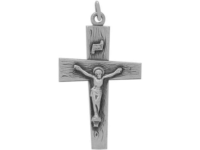 Genuine Sterling Silver Religious Crucifix with chain