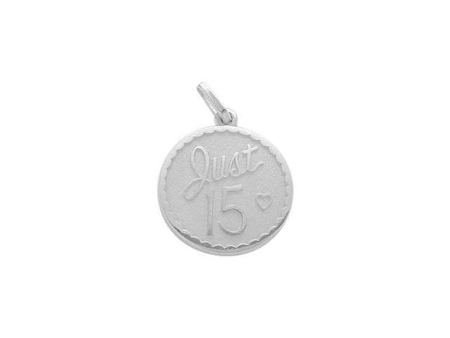 Sterling Silver Just #15 Age Expression Pendant with Chain