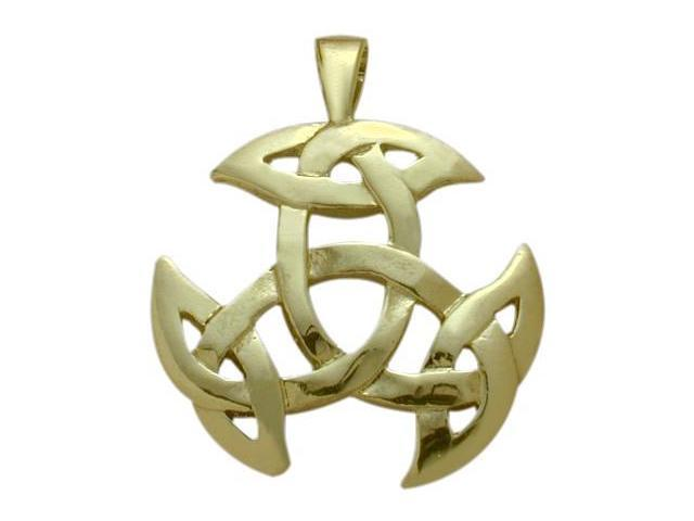 10 Karat Yellow Gold Celtic Galway Knot Pendant with Chain