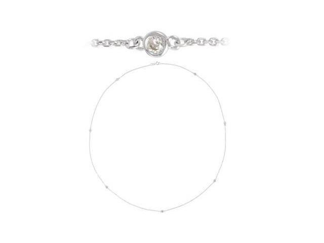 Genuine Sterling Silver a Diamond Necklace