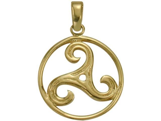 10 Karat Yellow Gold Celtic Triskele Pendant with Chain