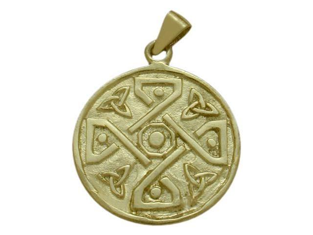 10 Karat Gold Celtic 4 Way Trinity Knot Pendant with Chain