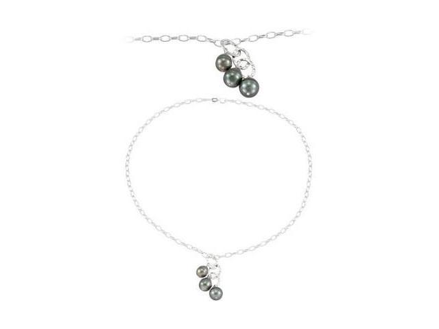 Genuine Sterling a Tahitian Pearl Necklace