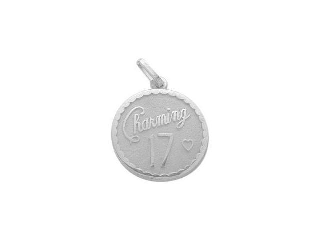 Sterling Silver Charming #17 Age Expression Pendant with Chain
