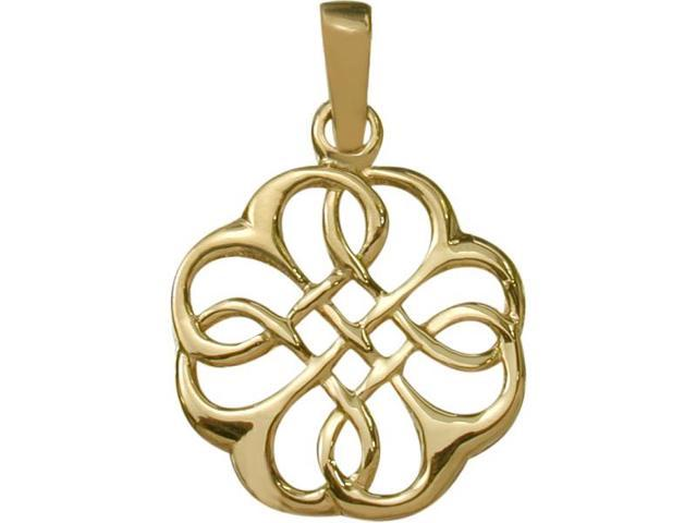 10 Karat Fancy Yellow Gold Celtic Knot Pendant with Chain