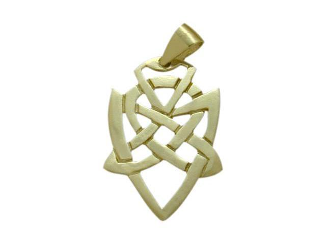 10 Karat Yellow Gold Celtic Knot Fancy Pendant with Chain