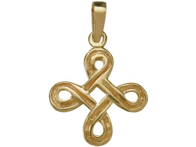 Traditional 10 Karat Yellow Gold Celtic Knot Pendant with Chain