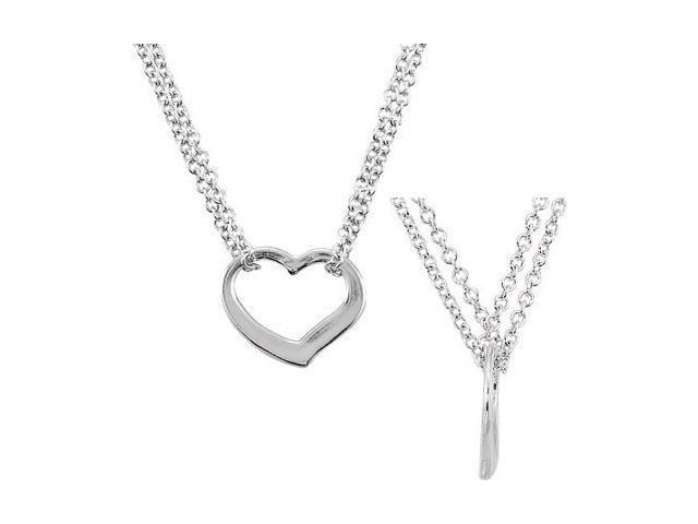 a Sterling Silver Floating Heart Necklace
