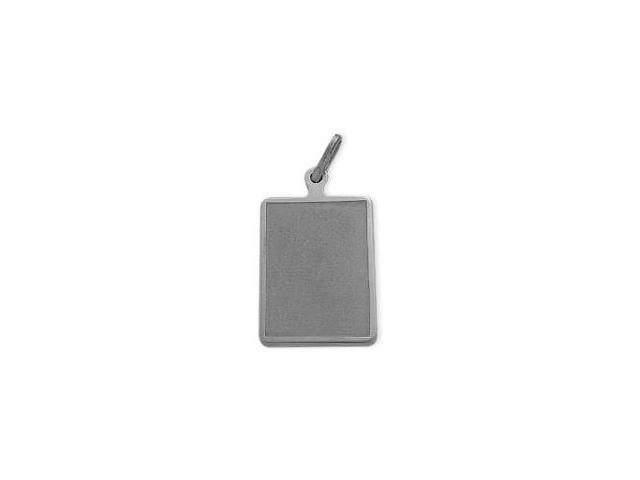 Genuine Sterling Silver Satin Finish Dog Tag with Chain