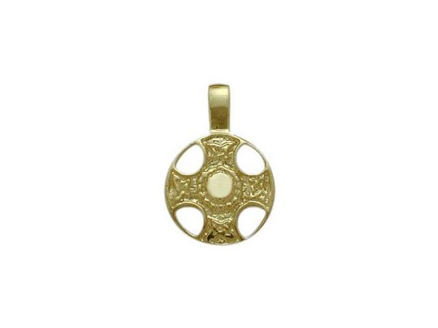10 Karat Yellow Gold Celtic Shield Pendant with Chain