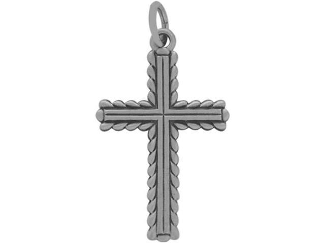Large Sterling Silver Religious Cross with chain