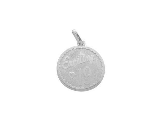 Sterling Silver Exciting #19 Age Expression Pendant with Chain