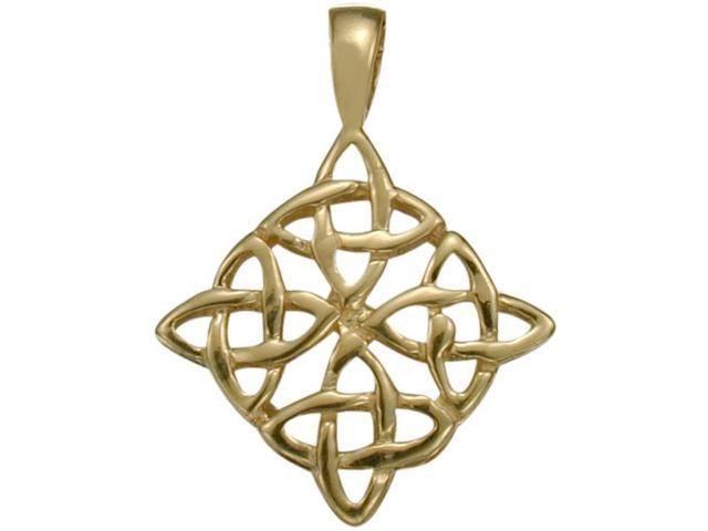 10 Karat Traditional Yellow Gold Celtic Knot Pendant with Chain