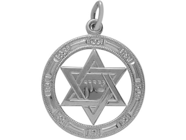 Genuine Sterling Silver Detailed Star of David Pendant