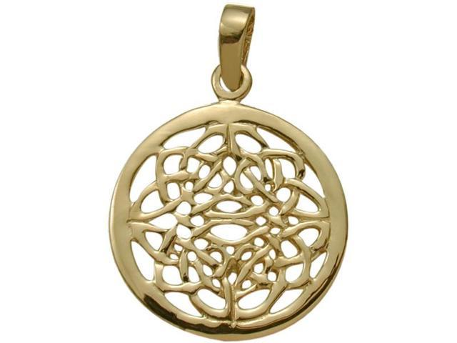Fancy 10 Karat Yellow Gold Celtic Knot Pendant