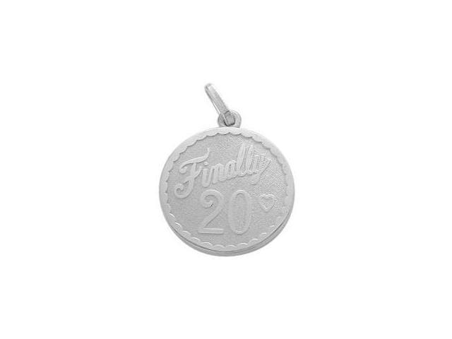Sterling Silver Finally #20 Age Expression Pendant with Chain