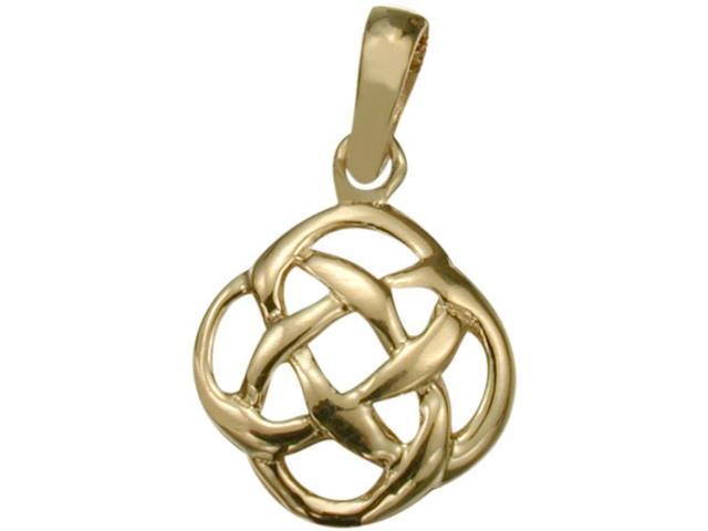 Fancy 10 Karat Yellow Gold Celtic Knot Pendant with Chain