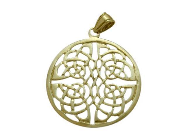 10 Karat Yellow Gold Fancy Celtic Knot Pendant with Chain